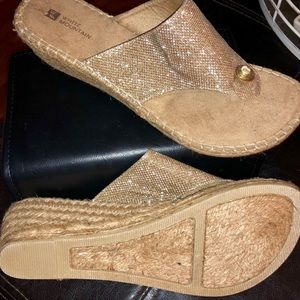 Gold wedge sandal - size 10 *never worn!